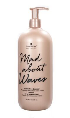 Schwarzkopf Mad About Waves Sulfate Free Cleanser - Бессульфатный очищающий крем 1000 мл