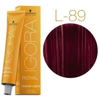 Schwarzkopf Крем-краска Igora Royal Fashion lights L-89 60 мл