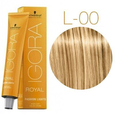 Schwarzkopf Крем-краска Igora Royal Fashion lights L-00 60 мл
